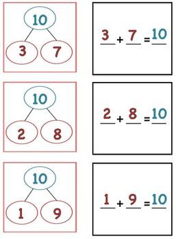 Number Bond Match Up - Addition