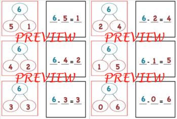 Number Bond Match Up - subtraction