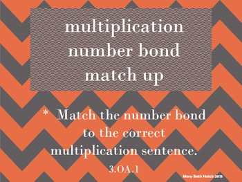 Number Bond Matching for Multiplication