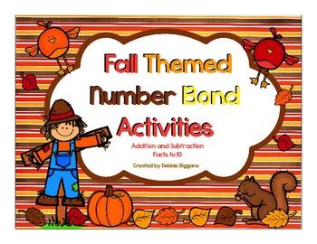 Number Bond Math Activities (Fall Themed)