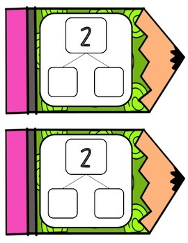 Number Sense Math Center - Number Bond Math Center Practice Cards