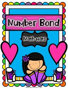 Number Sense Math Center -Number Bond Math Mats (Rainbow Colors)