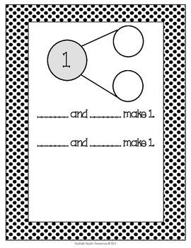 Number Sense Math Center - Number Bond Math Mats (Polka Dot Theme)