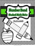 Number Sense Math Center - Number Bond Math Mats (Polka Do