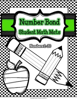 Number Sense Math Center - Number Bond Math Mats (Polka Do