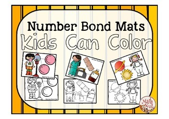 "Number Bond Mats Kids Can Color ""Number Bond Activity"""