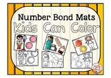 "Number Bond Activity ""Number Bond Mats Kids Can Color"""