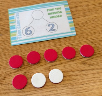 Number Bond Missing Whole Task Cards (27 cards)