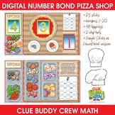 Digital Number Bond Pizza Shop | Distance Learning