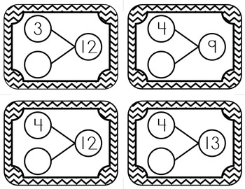 Number Bond Posters and Flash Cards
