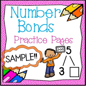 Number Bond Practice Pages Sample