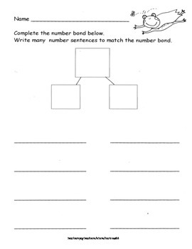 Number Bond Practice: Partner Numbers: Write Number Sentences Supports EngageNY