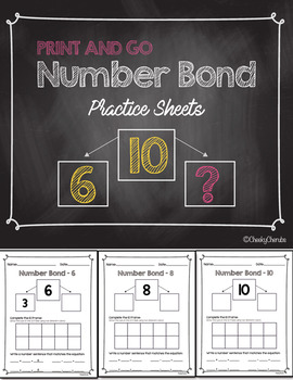 ***FREEBIE*** Number Bond - Practice Sheets (Eureka Math C