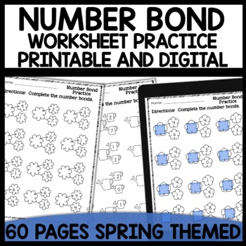 Number Bond Practice Sheets (Spring Themed)