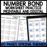Math Worksheets Number Bond Practice [Spring Themed]