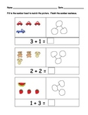Number Bonds for Kindergarten: PACK of Sets 1,2 and 3