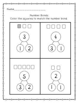 Number Bond Print and Go