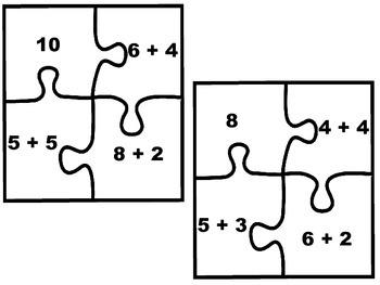 Number Bond Puzzles