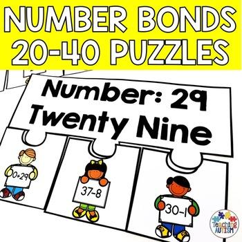 Number Bond Puzzles 20-40