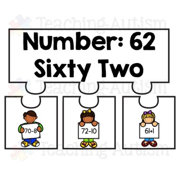 Number Bond Puzzles, Jigsaws, 60-80