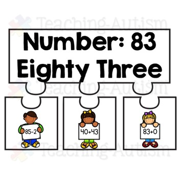 Number Bond Puzzles, Jigsaws, 80-100
