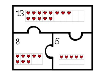 Number Bond Puzzles for 10-18