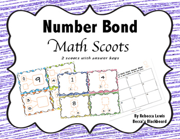Number Bond Scoots (Task Cards)