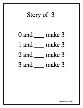 Number Bond Stories