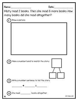 Number Bond Story Word Problems