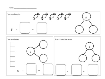 Number Bond Subtraction Sentences Numbers 5 to 10
