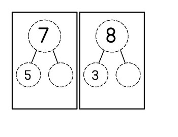 Number Bond Task Box