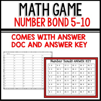 Number Bond Task Cards