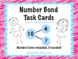 Number Bond Task Cards set of 24~Sums within 10~for math centers  CCSS aligned