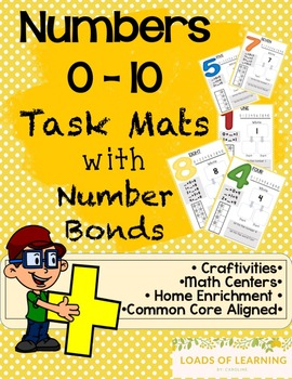 Number Bond Task Mats - Numbers 0 - 10