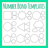 Number Bond Template Clip Art Set for Commercial Use