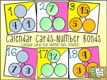 Calendar Date Cards - Number Bond Variation