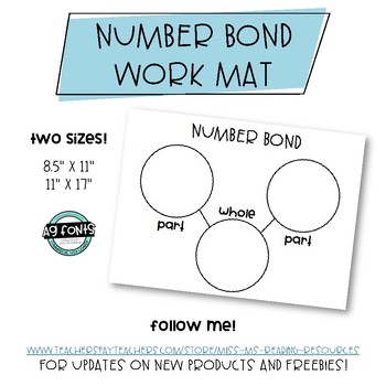 Number Bond Work Mat FREEBIE