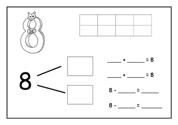 Number Bond Work Mats - Numbers 6 - 10