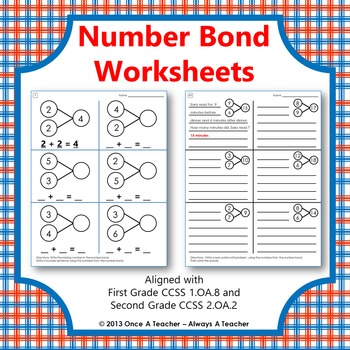 Number Bond Worksheets By Once A Teacher Always A Teacher Tpt