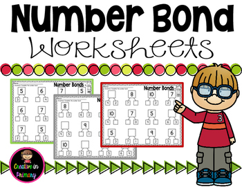 Number Bond Worksheets