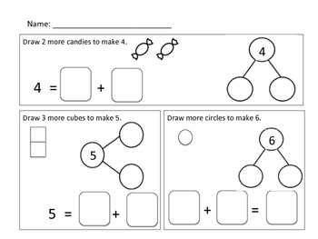 Number Bond and Addition Sentence Writing