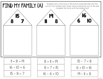 Number Bond and Fact Family Activities