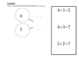 Number Bond and Number Sentence Matching activity