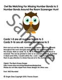Number Bond/Fact Family Classroom Scavenger Hunt for #5 - Owl