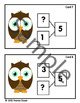 Number Bond/Fact Family Classroom Scavenger Hunt for #5 - Owl
