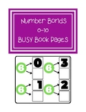Number Bonds 0-10 Busy Book Pages