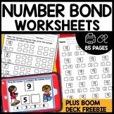 First Grade Number Bond Worksheets Math Centers |  BOOM CA