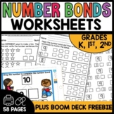 Number Bonds Worksheets to 10 Math Centers |  BOOM CARDS™ and Easel Activity