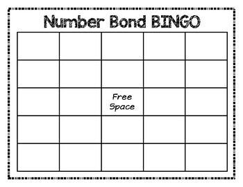Number Bonds 1-10:  BINGO Game - Singapore math