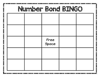 Number Bonds 1-10:  BINGO Game - Singapore math